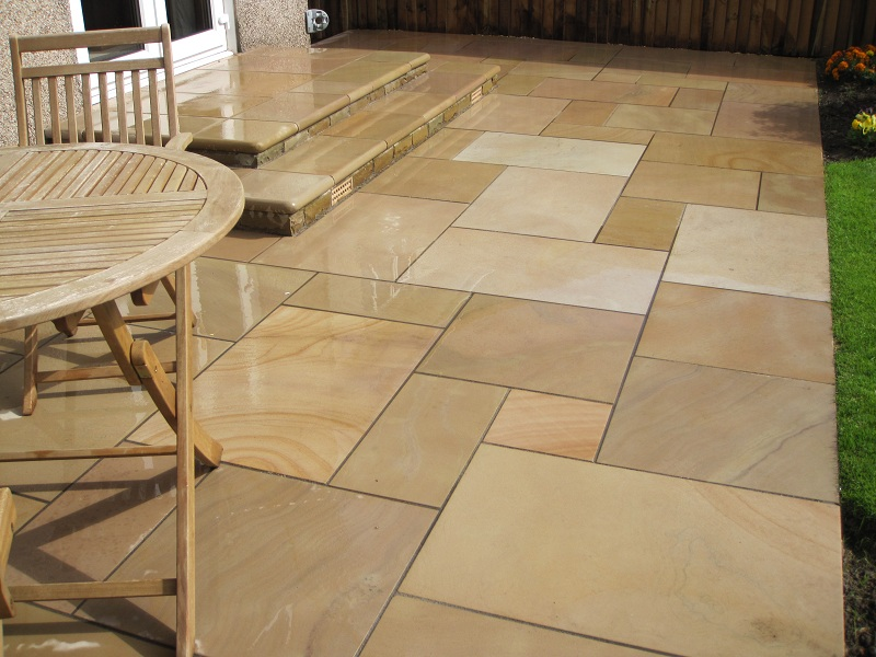 riven Marshalls Fairstone Sawn Paving Autumn Bronze